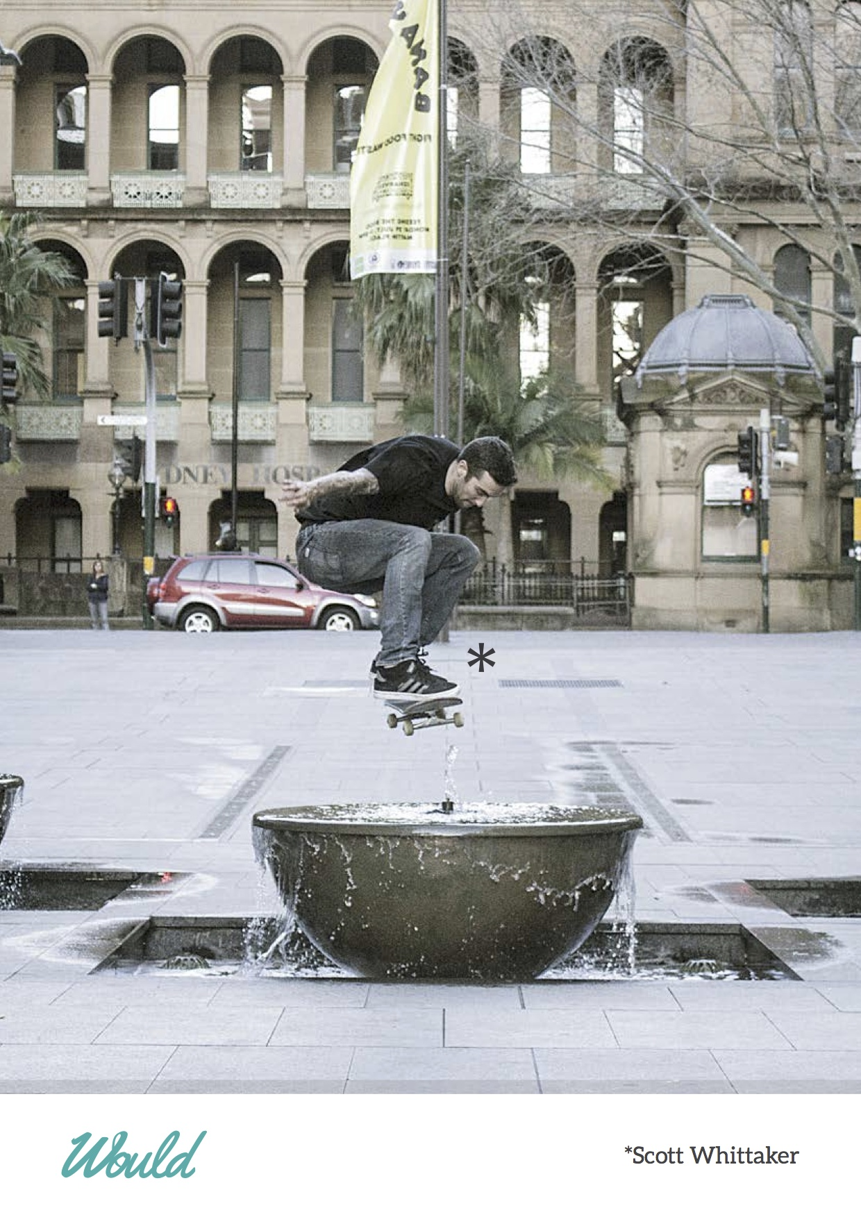 Would Skateboards - Scott Whittaker - Fountain ollie Australia