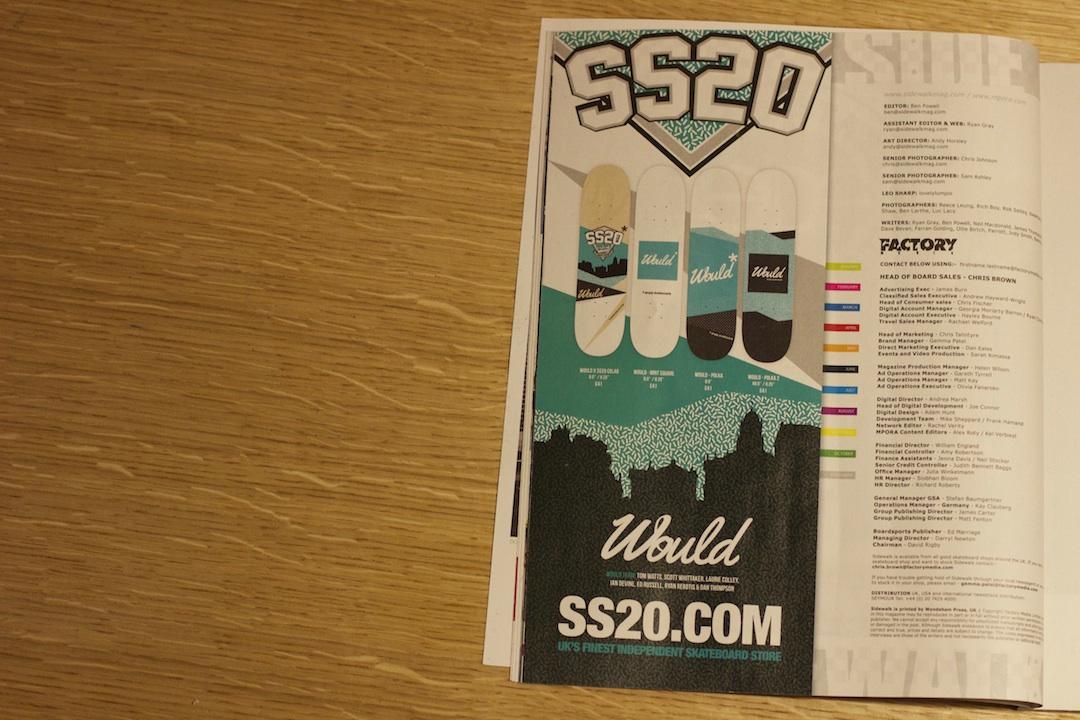 Would Skateboards Sidewalk advert Simply Skateboards - 2
