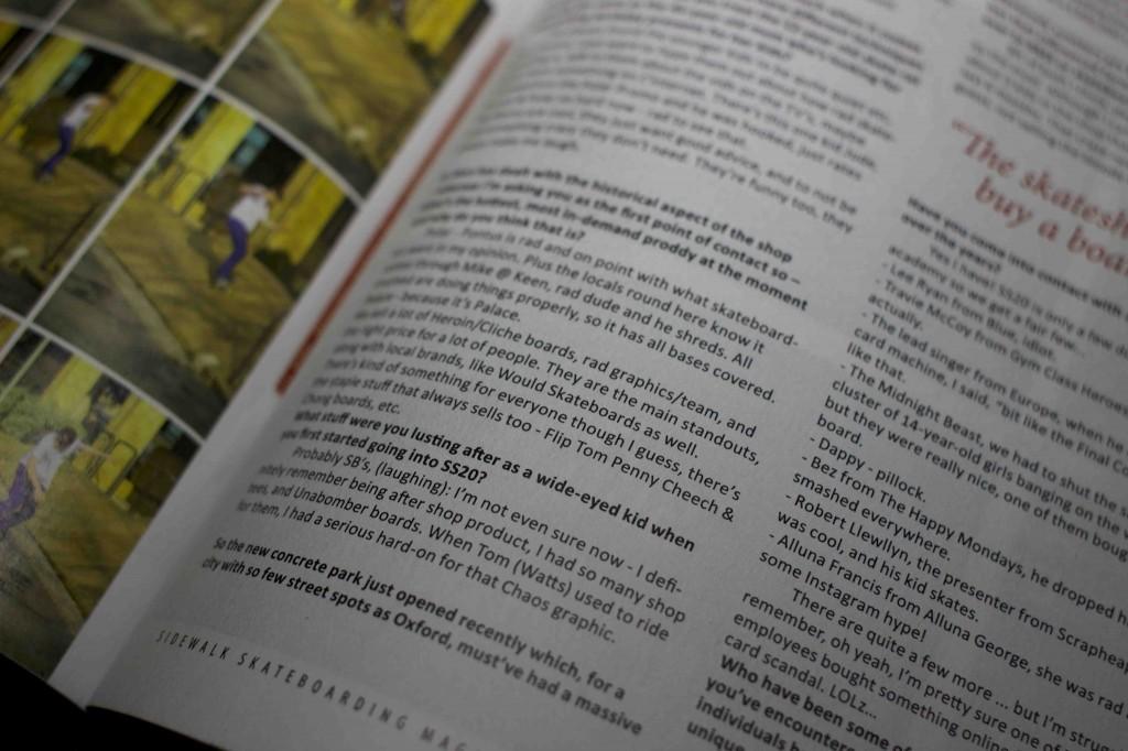 ss20 Skateshop - Sidewalk Magazine - Would Skateboards - oxford www.ss20.com