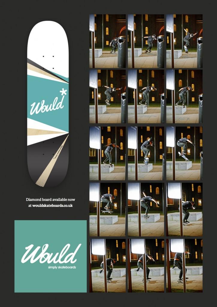 Diamond Advert Ryan - Would Skateboards - Leop Sharp - Skateboarding