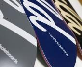 Would Skateboards Logo Boards NAVY - GREY - BLACK:Wood 2