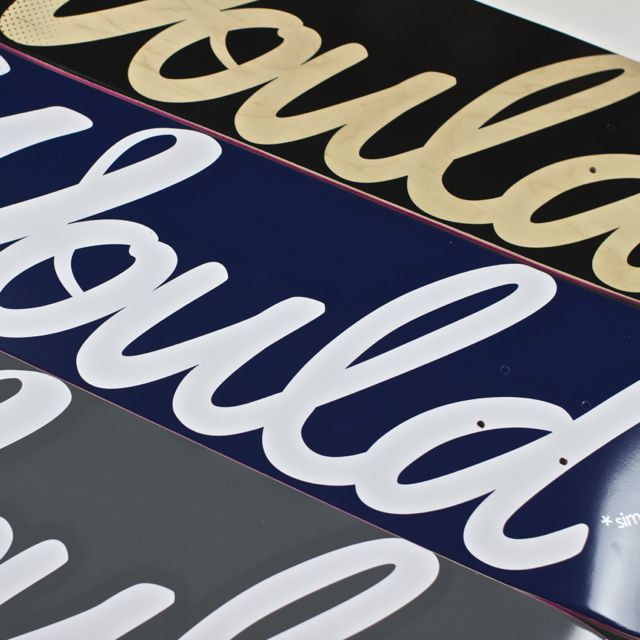 Would Skateboards Logo Boards NAVY - GREY - BLACK:Wood