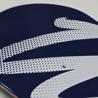 Would Skateboards - White - Navy Logo Skateboard Deck - Detail