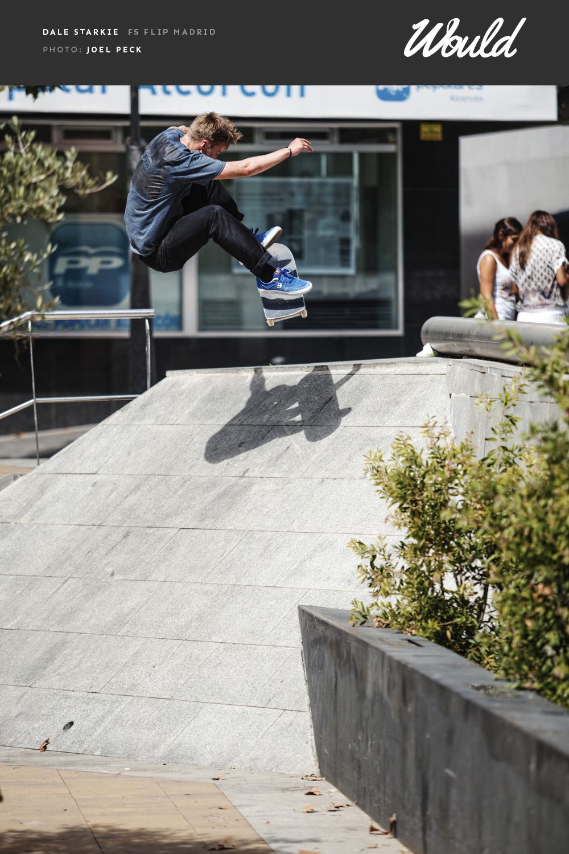 Would Skateboards-Advert-Dale-Starkie-fs-flip-Madrid-OP-4-FINAL